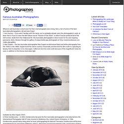 Famous Australian Photographers
