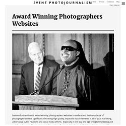 Award Winning Photographers Websites