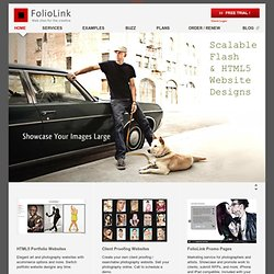 Photography Websites and Artist Web Sites, FolioLink Template Websites to show, sell and promote photography and art online
