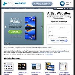 Artist Websites - Websites for Artists - Websites for Photographers - Professionally Designed