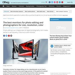 The best monitors for photo editing and photographers for size, resolution, color