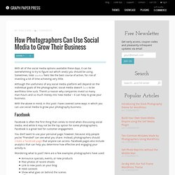 How Photographers Can Use Social Media to Grow Their Business