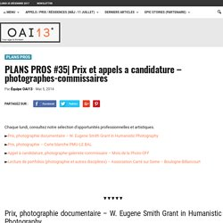 Prix et appels a candidature - photographes-commissaires