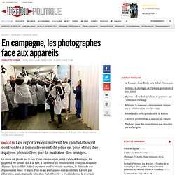 En campagne, les photographes face aux appareils