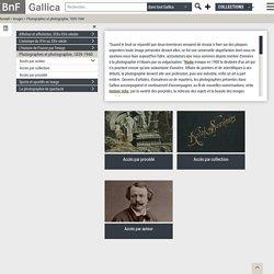 Photographes et photographie, 1839-1940