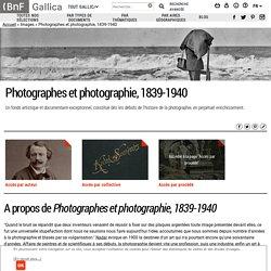 [FR] Photographes et photographie, 1839-1940 / BNF