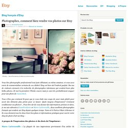 Photographes, comment bien vendre vos photos sur Etsy