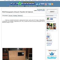 PCB Photographic Artwork Transfer UV Cabinet