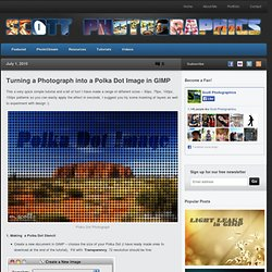 Turning a Photograph into a Polka Dot Image in GIMP
