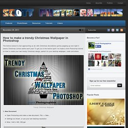 How to make a trendy Christmas Wallpaper in Photoshop