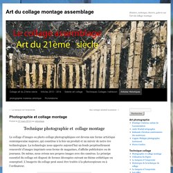 photographie et collage