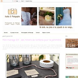 Aurelia B Photographie: Mon mariage DIY : des tickets de tombola pour la jarretière