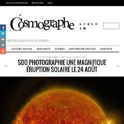SDO photographie une magnifique éruption solaire le 24 août
