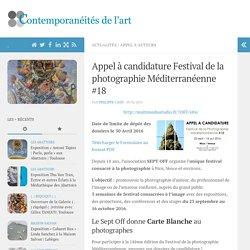 Appel à candidature Festival de la photographie Méditerranéenne #18