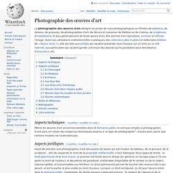Photographie des œuvres d'art