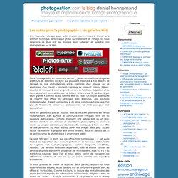 Les outils pour la photographie : les galeries Web « photogestion.com/blog