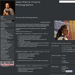 Cours de photographie - Jean-Pierre Vicario Photographie