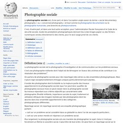 Photographie sociale