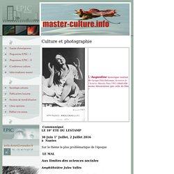 Master Culture : Photographie et Sociologie