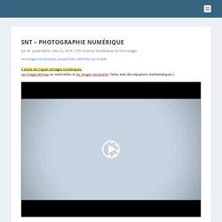 SNT – Photographie numérique