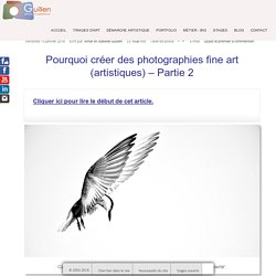 Pourquoi créer des photographies fine art (artistiques) – Partie 2