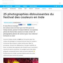 25 photographies éblouissantes du festival des couleurs en Inde