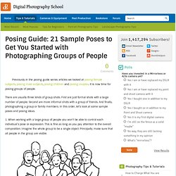 Posing Guide: 21 Sample Poses to Get You Started with Photographing Groups of People