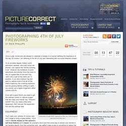Photographing 4th of July Fireworks