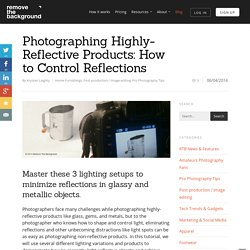 Photographing Highly-Reflective Products: How to Control Reflections - Remove The Background