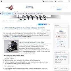 L'Atelier Photographique du Collège Georges Brassens
