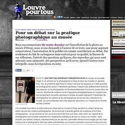 Pour un débat sur la pratique photographique au musée