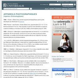 APPAREILS PHOTOGRAPHIQUES - repères chronologiques