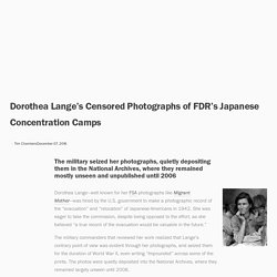Dorothea Lange's Censored Photographs of FDR's Japanese Concentration Camps — Anchor Editions