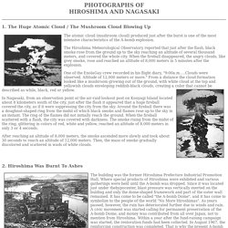 PHOTOGRAPHS OF HIROSHIMA AND NAGASAKI (GENSUIKIN)