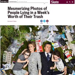 "Gregg Segal photographs people with a week's worth of their trash in his series, ""7 Days of Garbage."""