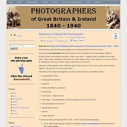 Photographers 1840 - 1940 Great Britain & Ireland