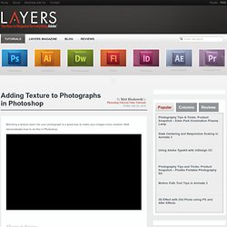 Adding Texture to Photographs in Photoshop Layers Magazine