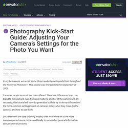 Photography Kick-Start Guide: Adjusting Your Camera's Settings for the Photo You Want