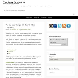 The Exposure Triangle – 31 Days To Better Photography – The Carey Adventures