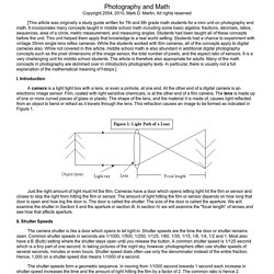 Photography and Math