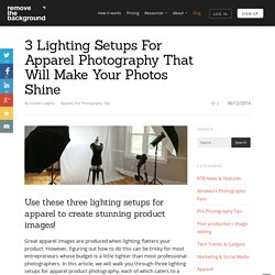 3 Lighting Setups For Apparel Photography That Will Make Your Photos Shine - Remove The Background
