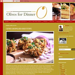 Olives for Dinner: Curried Chickpea and Onion Fritters
