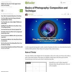Basics of Photography: Composition and Technique
