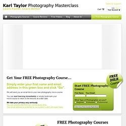 Karl Taylor Photography Training Courses