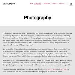 Photography - David Campbell