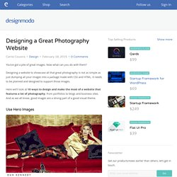 Designing a Great Photography Website