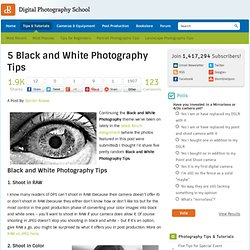 5 Black and White Photography Tips