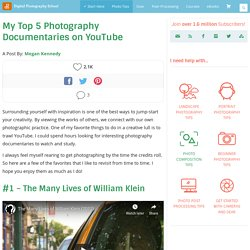 My Top 5 Photography Documentaries on YouTube