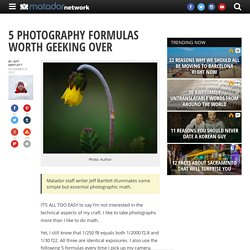 5 photography formulas worth geeking over
