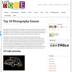 Top 10 Photography Genres - List Dose